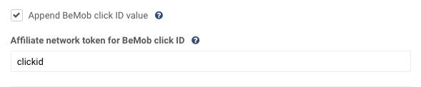 Append BeMob Click ID