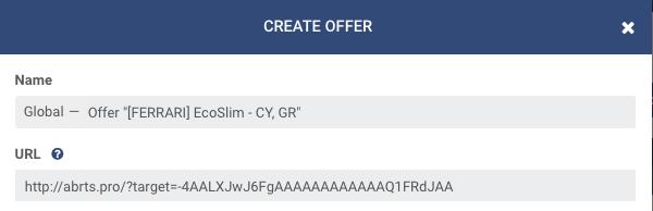 Adding an Offer