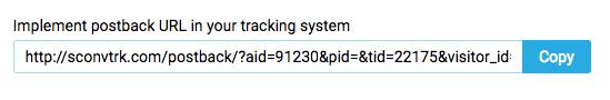 Clickadu postback URL